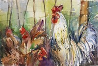 Head Of The Roost Fine Art Print