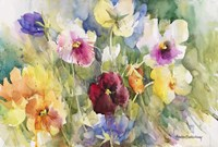 Pansies Posing Fine Art Print