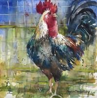 Fenced Fowl Fine Art Print