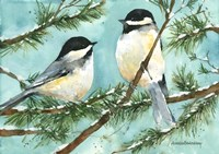 Chickadee Chat Fine Art Print