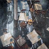 Shadows at the Zurich Cafe Fine Art Print