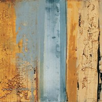 Ochre, Blue Overlay II Fine Art Print