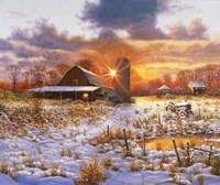 Snow Barn Fine Art Print