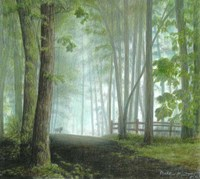 Misty Morning Visitor Fine Art Print