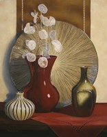 Still Life with Red Vase Fine Art Print