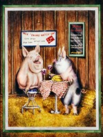 Wine, Dine & Swine Fine Art Print