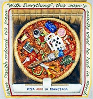 Pizza With Everthing Fine Art Print
