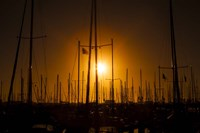 Mast Sunset Fine Art Print