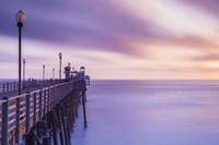 Dusk at the Oceanside Pier Fine Art Print