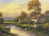 Lakeside Cottage Fine Art Print