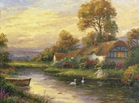 Lakeside Cottage Fine Art Print