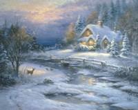 Winter Cottage Fine Art Print