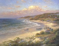 Moored on the Beach Fine Art Print