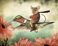 Catching A Ride On A Hummingbird's Back Fine Art Print