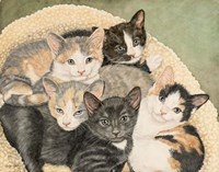 Gracie's Kittens Fine Art Print