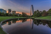 Gateway Arch Reflection Sunset Fine Art Print