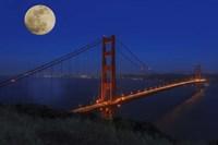 Golden Gate Bridge Full Moon Fine Art Print
