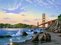 Golden Gate Sunset, CA 2 Fine Art Print