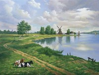 A Dutch Landscape Fine Art Print
