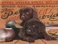 Hunting Puppies Fine Art Print