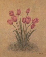 Bunch of Red Tulips Fine Art Print