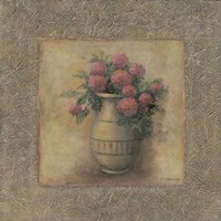 Red Flowers In Vase Fine Art Print