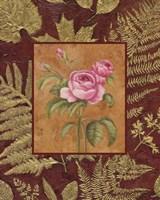 Pink Flowers With Leaf Border Framed Print