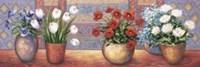 Row Of Flower Pots - B Framed Print
