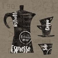 Linen Coffee I Framed Print
