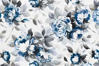 Scent of Roses Indigo Framed Print