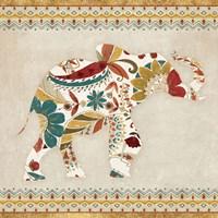 Boho Elephant I Framed Print