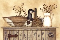 Duck And Berry Still Life Fine Art Print