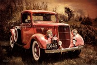 Little Red Truck Fine Art Print