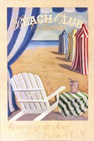 Beach Club Cabanas Fine Art Print
