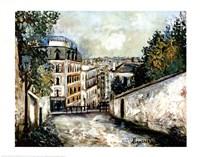 Street In Montmarte Fine Art Print