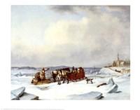 Ice Bridge At Longue Fine Art Print