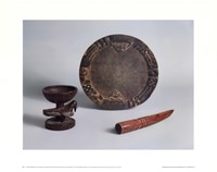 Ifa Divination Bowl, Tray & Tapper Fine Art Print