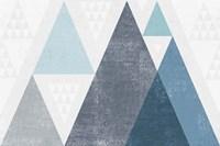 Mod Triangles I Blue Framed Print