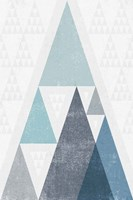 Mod Triangles III Blue Framed Print