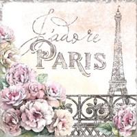 Paris Roses III Framed Print