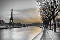 River Seine And The Eiffel Tower Fine Art Print