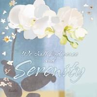 Blue Floral Inspiration I Fine Art Print