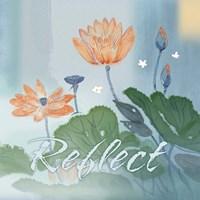 Blue Floral Inspiration V Fine Art Print