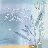 Blue Floral Inspiration VII Fine Art Print