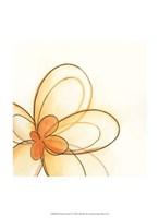 Floral Gesture IV Framed Print