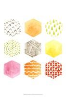 Honeycomb Patterns I Fine Art Print