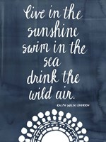 Sun Quote I Framed Print