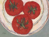 Plate with Tomato Framed Print