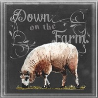 Chalkboard Farm Animals IV Fine Art Print