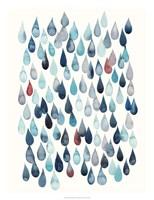 Watercolor Drops I Framed Print